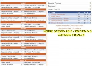 calendrier 2012-2013 - N5