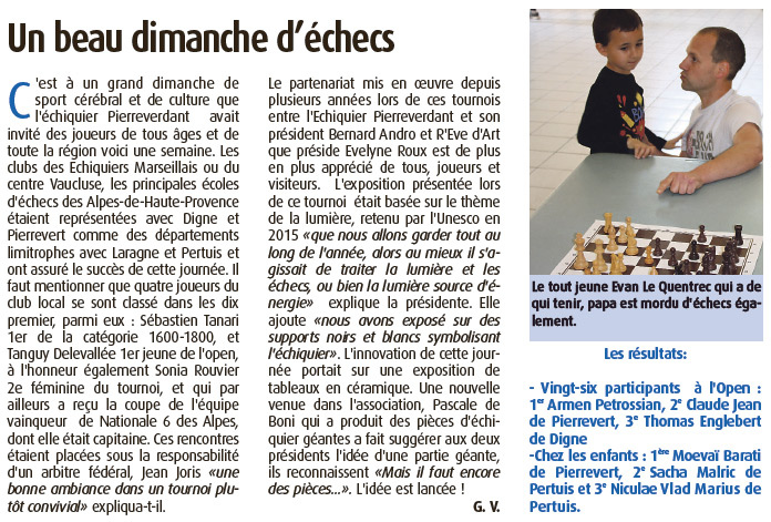 Haute Provence Info du 22/05/2015