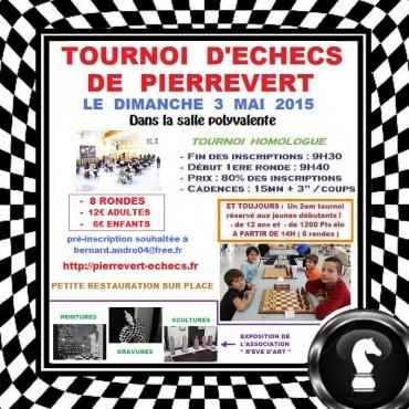 tournoi d'échecs de Pierrevert du 3 mai 2015